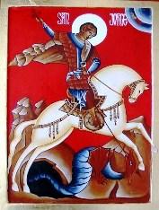 San Jorge y su animalito