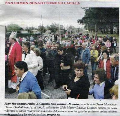 La fiesta de San Ramón, en su capilla