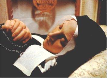 Santa Bernardette Soubirous: incorrupta.