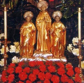 Santos Bernardo, María y Gracia