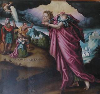 Santa Quiteria, cefalófora