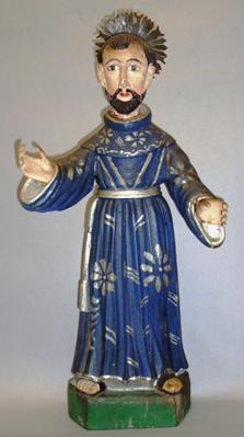 Los franciscanos, de azul