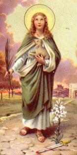 Santa Inés y el cordero