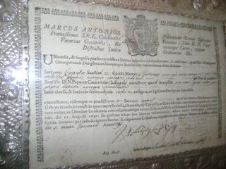 Auténtica de Santa Fortunata de Moquegua