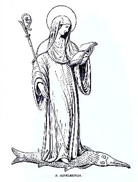 Una santa, un pez y un colador