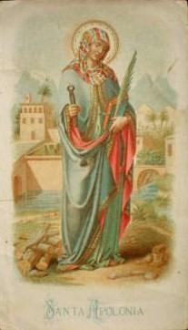 Santa Apolonia según Joan Amades