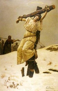 De Santas crucificadas