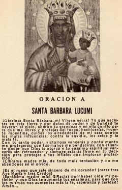 Santa Bárbara Lucumí